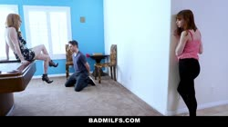 BadMILFS - Hot Stepdaughter Shares Cock With Her Stepmom
