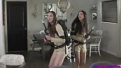 Step Siblings Caught Andi Rose And Jazmin Luv - Step Sister Gets Ghost Slimed